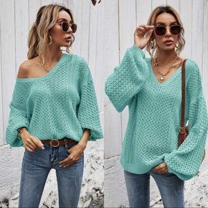 BETTER WITH YOU KNIT SWEATER- MINT